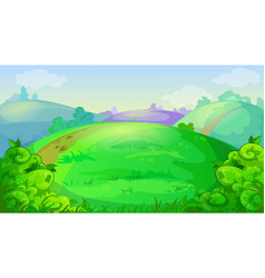 game background with summer meadow hills vector image vector image