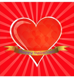 Love You Valentine Greeting card vector image vector image