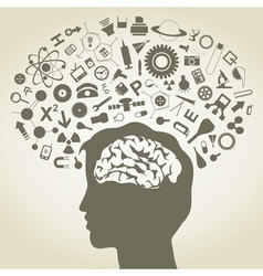 Science Mind vector image