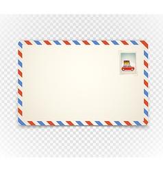 Vintage postcard on transparent background vector image vector image