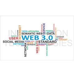 word cloud web vector image