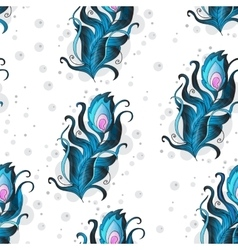 Beautiful seamless pattern with peacock vector image vector image