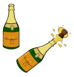 Champagne bottle vector