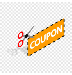 coupon code isometric icon vector image vector image