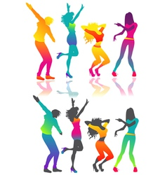 Isolated dancing people vector image vector image