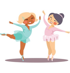 Little ballerinas vector image vector image