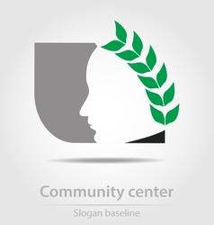 Original community center business icon vector