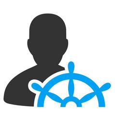 ship captain flat icon vector image