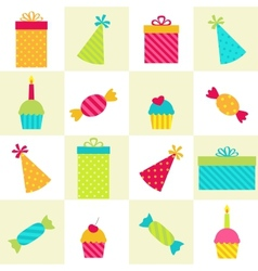 Birthday Party pattern vector image vector image