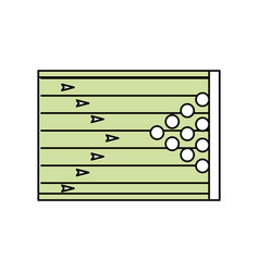 Bowling field symbol vector