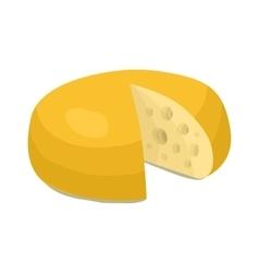Cheese wheel icon cartoon style vector image vector image