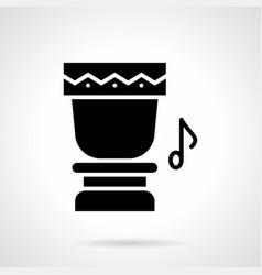 ethnic drum glyph style icon vector image