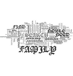 find your noble ancestors text background word vector image