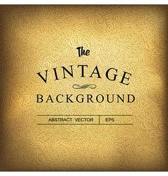 golden vintage background template vector image