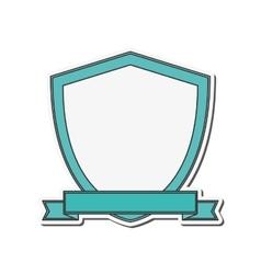 Shield ribbon banner design vector