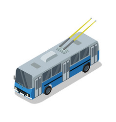 trolleybus isolated isometric 3d icon vector image