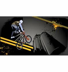 urban biker vector image
