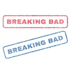 breaking bad textile stamps vector image