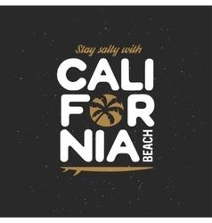 California beach t-shirt graphics Vintage vector image vector image