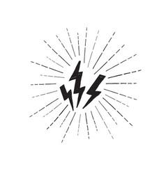 lightning bolt set grunge strike icon power sign vector image