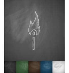 match icon Hand drawn vector image vector image