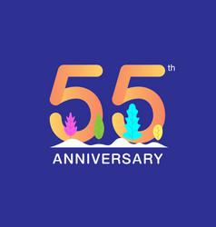 55 years anniversary celebration logotype vector image