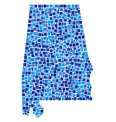 alabama state map mosaic of pixels vector image