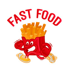 american french fast food vector image