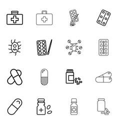 aspirin icons vector image