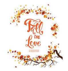 autemn leaves poster vector image