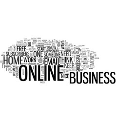 basic online business techniques text word cloud vector image