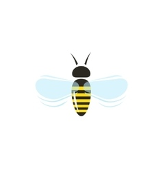 Bee flying icon isolated on white vector