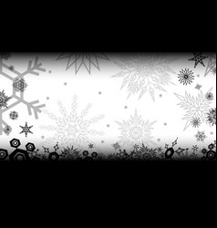 black snowflake bg vector image