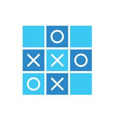 Blue tic tac toe icon design cool mini game vector