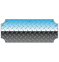 Brilliant chrome diamond plate metal sign vector