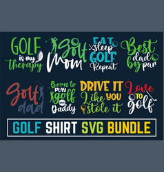 Calligraphy inspiration graphic typography golf sv vector