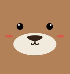 cartoon dog background vector image