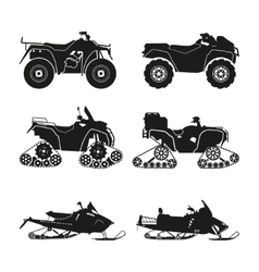 Collection silhouettes atv vector
