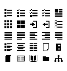 Content icon vector