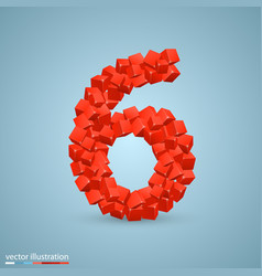 cubes as a symbol font 6 vector image