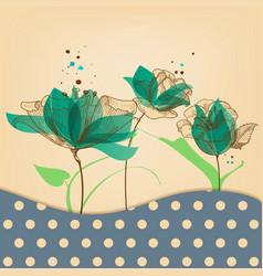 Cute floral bashower invitation vector