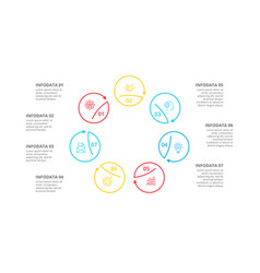 cyclic lines infographic modern infographic vector image