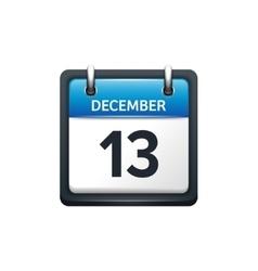 December 13 Calendar icon vector