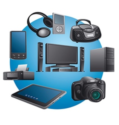 electronics appliances icons vector image