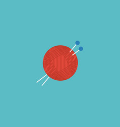 flat icon knitting element of vector image