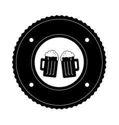 fresh beer drink icon vector image