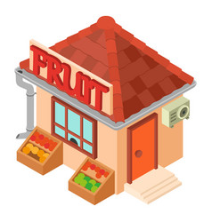 Fruit shop icon isometric style vector