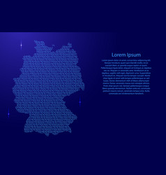 Germany map abstract schematic from blue ones and vector