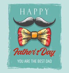 Happy fathers day retro poster vector