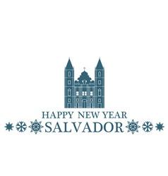 Happy New Year Salvador vector image